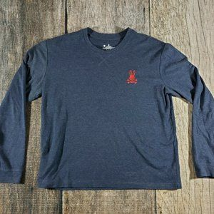 NEW Psycho Bunny Heather Navy Long Sleeve Shirt